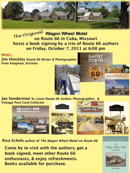 Book Signing at the Wagon Wheel Motel on October 7, 2011