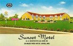 Vintage postcard of the Sunset Motel, Villa Ridge, MO