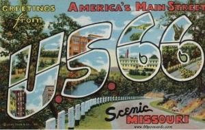 US 66 Postcard